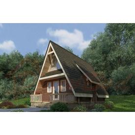 Будинок з профільованого бруса 140х180 мм Проект D-20 5,5 x 7,4 м