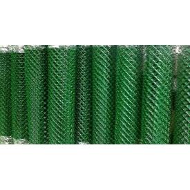 Сетка сварная рабица для забора и ограждения 50х50 оцинкованная с полимерным покрытием (зелёная) диаметр 3,5 мм 1,5х10 м