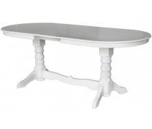 Кухонный стол Говерла раздвижной 1600-2000х900х750 мм деревянный белый