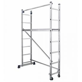 Алюминиевая лестница-помост 2 х 7 ступеней универсальная