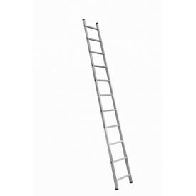 Односекционная алюминиевая приставная лестница на 11 ступеней (универсальная)