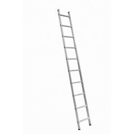 Односекционная алюминиевая приставная лестница на 10 ступеней (универсальная)