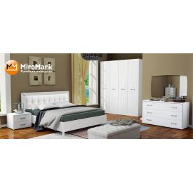Спальня Белла 4Д белый глянец Миро-Марк