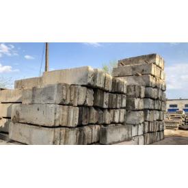 Блок железобетонный фундаментный ФБС 6 2.4х0.6х0.6м