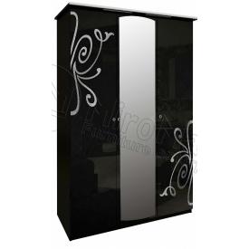 Шафа Богема 3Д чорний глянець Миро-Марк