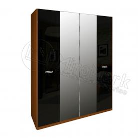 Шафа Белла 4Д чорний глянець + вишня бюзум Миро-Марк