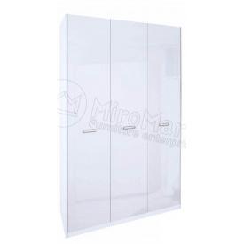 Шкаф Белла 3Д без зеркал белый глянец Миро-Марк