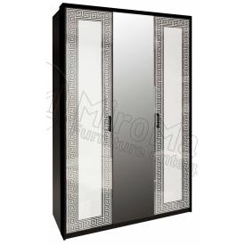 Шафа Віола 3Д білий глянець + чорний мат Миро-Марк