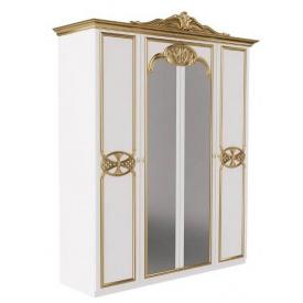 Шкаф Ева 4Д с короной белый глянец Миро-Марк