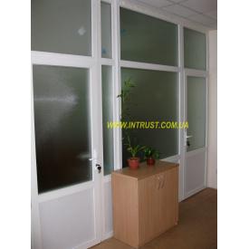 Металопластиковые перегородки TEC с дверью