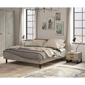 Ліжко 180 Барі Сокме вудкон / дуб гранж пісочний
