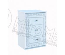 Тумба прикроватная Луиза 3Ш белый глянец Миро-Марк