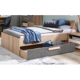 Кровать 90 Айго Сокме 96х75х204 см бук песочный/пельтро