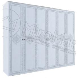 Шафа Луїза 6Д без дзеркал білий глянець Миро-Марк