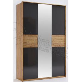 Шкаф Рамона 3Д с зеркалом лава + дуб крафт Миро-Марк