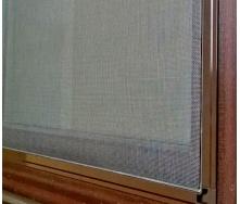 Москітна сітка для вікон алюмінієвий профіль коричневий