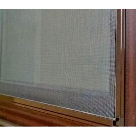 Москитная сетка для окон алюминиевый профиль коричневый