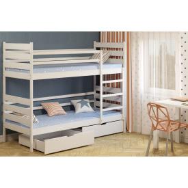 Детская двухъярусная кровать Ларикс Camelia 80х190 Бук