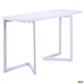 Стол раскладной Итака База алюм/Меламин белый глянец