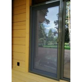 Дверная москитная алюминиевый профиль 13,1х 31,9 антипыль
