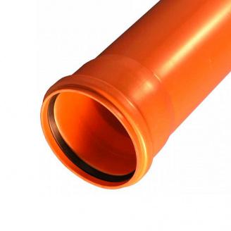 Труба для зовнішньої каналізації з НПВХ 200 / 3,9 / 2000 мм