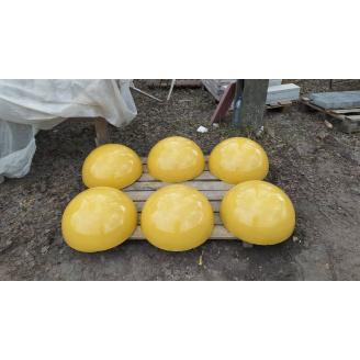Полусфера антипаркинг 500х500х250 мм желтый