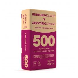 Портландцемент Кривий Ріг Цемент М500 Д0 мішок 25 кг