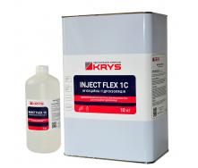 KRYS INJECT FLEX 1C - 1-компонентна еластична ін`єкційна піна Комплект 10 кг + 1 л Для деформаційних швів і тріщин