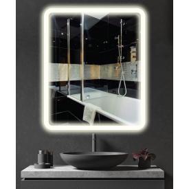 Зеркало с подсветкой LED (с закруглением) ML - 11 70х90