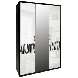Шафа Терра 3Д білий глянець + чорний мат Миро-Марк