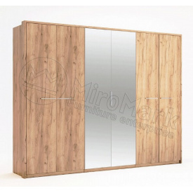 шафа Нікі 6Д дуб крафт з дзеркалами Миро-Марк
