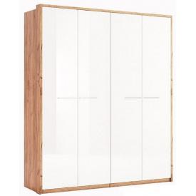 шафа Нікі 4Д дуб крафт + білий глянець без дзеркал Миро-Марк