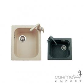 Кухонная мойка гранитная Adamant Compacta 430х500х210 левая 15 антрацит