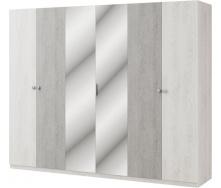Шкаф Вивиан 6Д аляска + монолит Мир мебели