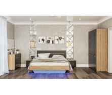 Спальня Бьянко 3Д дуб артизан + графит Мир мебели