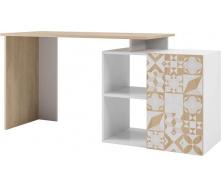 Стол письменный Кристель дуб сонома + белый Мир мебели