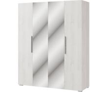 Шкаф Ромбо 4Д аляска + белый Мир мебели