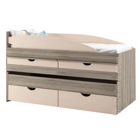 кровать двухярусная Савана Нью 80х190 дуб сонома Мир мебели