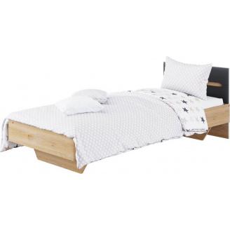 Кровать Бьянко 90 дуб артизан + графит Мир мебели