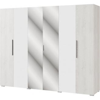 Шкаф Ромбо 6Д аляска + белый Мир мебели