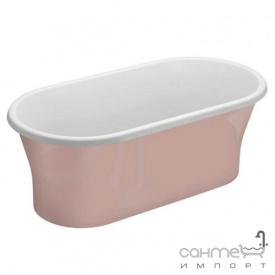 Отдельностоящая акриловая ванна Polimat Amona New 150x75 00415 белая/розовая