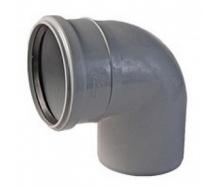 Коліно каналізаційне 50/90 мм