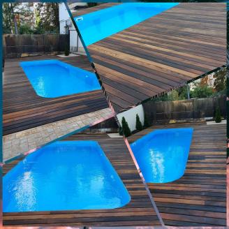 Будівництво дерев`яної відкритої тераси з термодеревини
