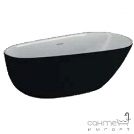 Отдельностоящая акриловая ванна Polimat Shila 170х85 00345 белая/матовый черный