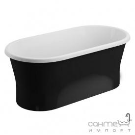 Отдельностоящая акриловая ванна Polimat Amona Nero New 150x75 00335 белая/матовый черный