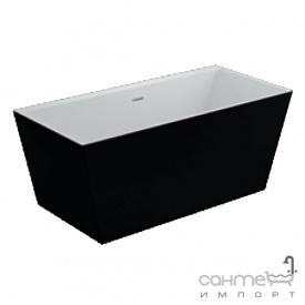 Отдельностоящая акриловая ванна Polimat Lea 170x80 00334 белая/матовый черный