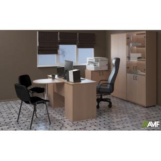 Офисный стол с приставным столиком АМФ Омега