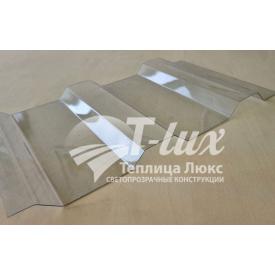 Профилированный монолитный градостойкий поликарбонат Greenhouse МП-20 прозрачный 0,8 мм
