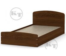 Ліжко Ніжність -90 МДФ горіх Компаніт