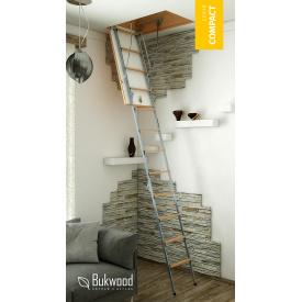 Чердачная лестница Bukwood Compact Metal Standard 120х80 см
